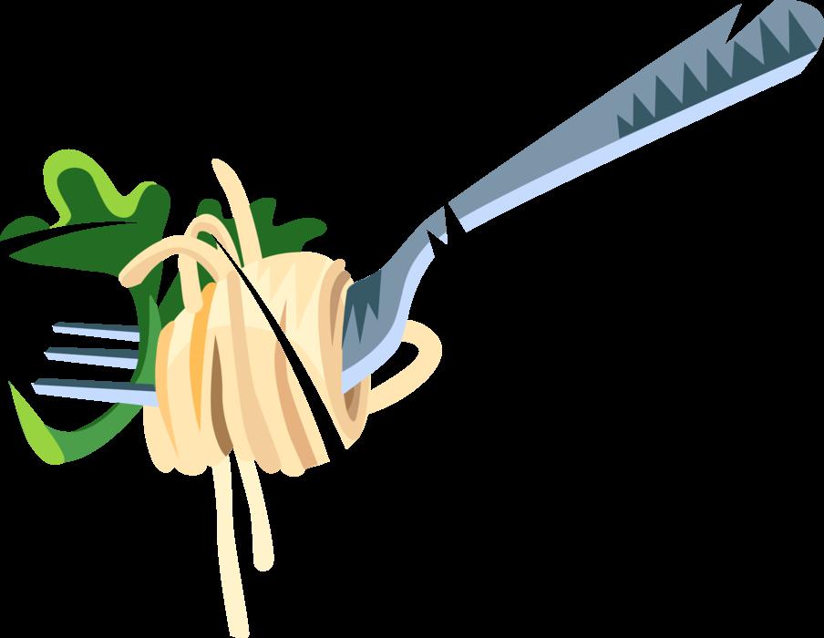 Italian spaghetti vector image. Dinner clipart pasta dinner