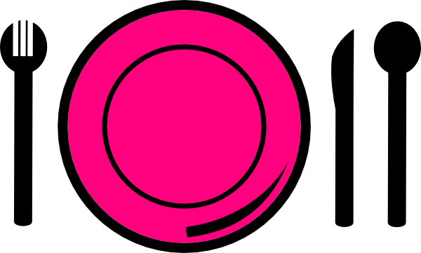Free cliparts download clip. Dinner clipart pink plate