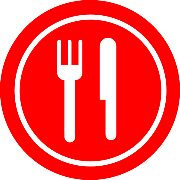 Dinner clipart pink plate. Red with knife and