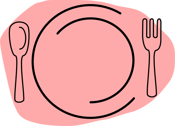 Food free download best. Dinner clipart pink plate