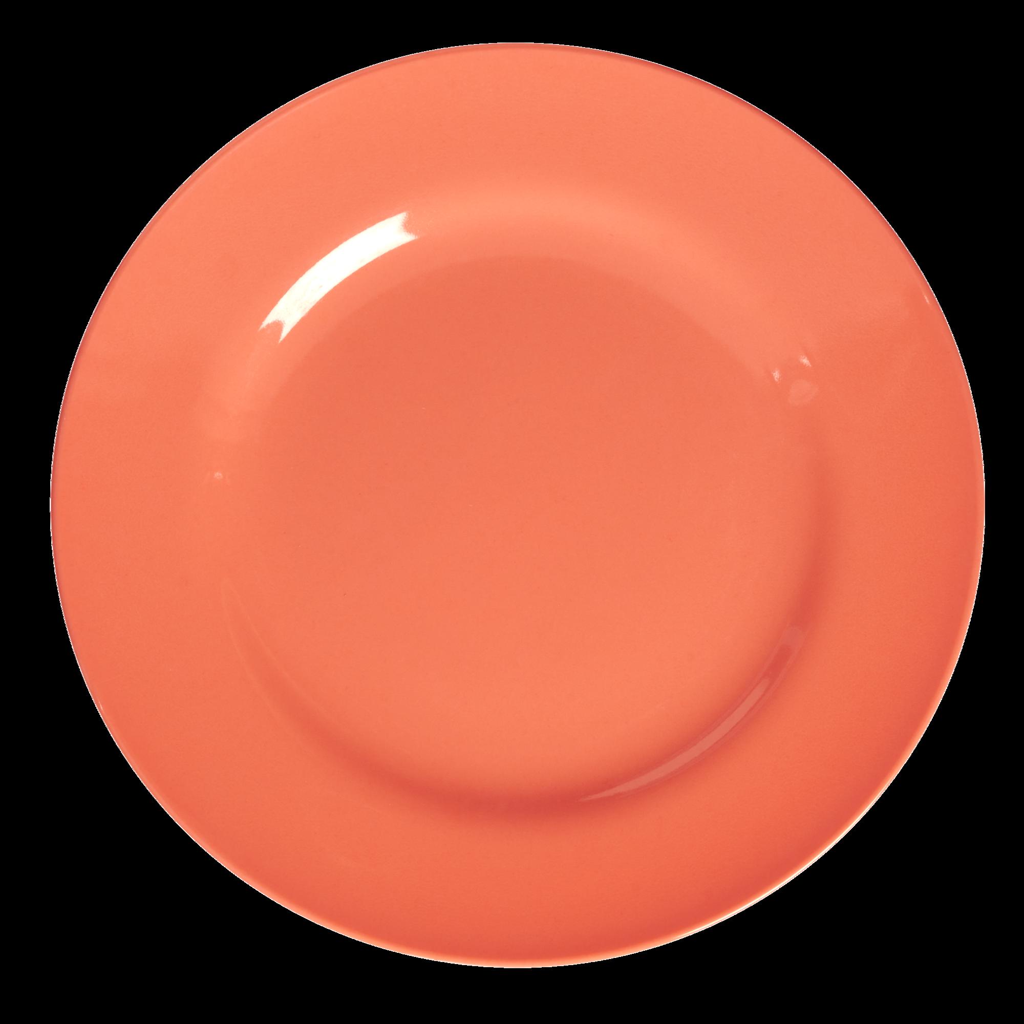 Neon pastel orange melamine. Dinner clipart pink plate