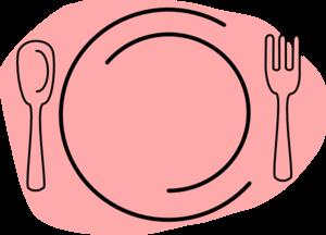 Dinner clipart pink plate. Clip art at clker