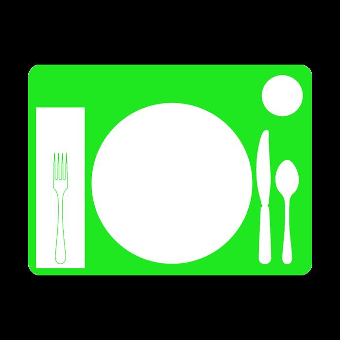 Table setting nonslip placemat. Memories clipart dementia
