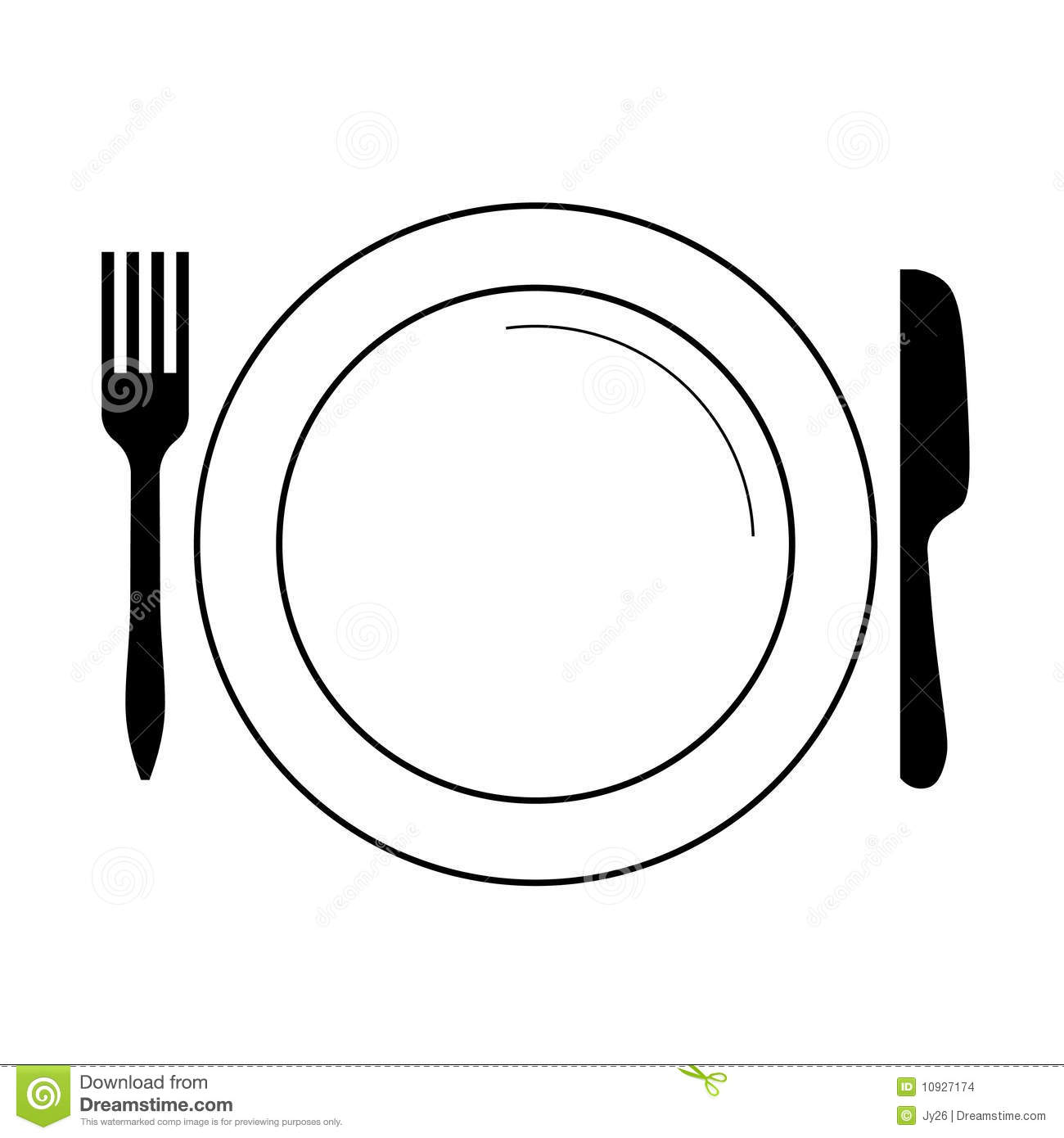 Dinner clipart plate knife fork.  vector images clip