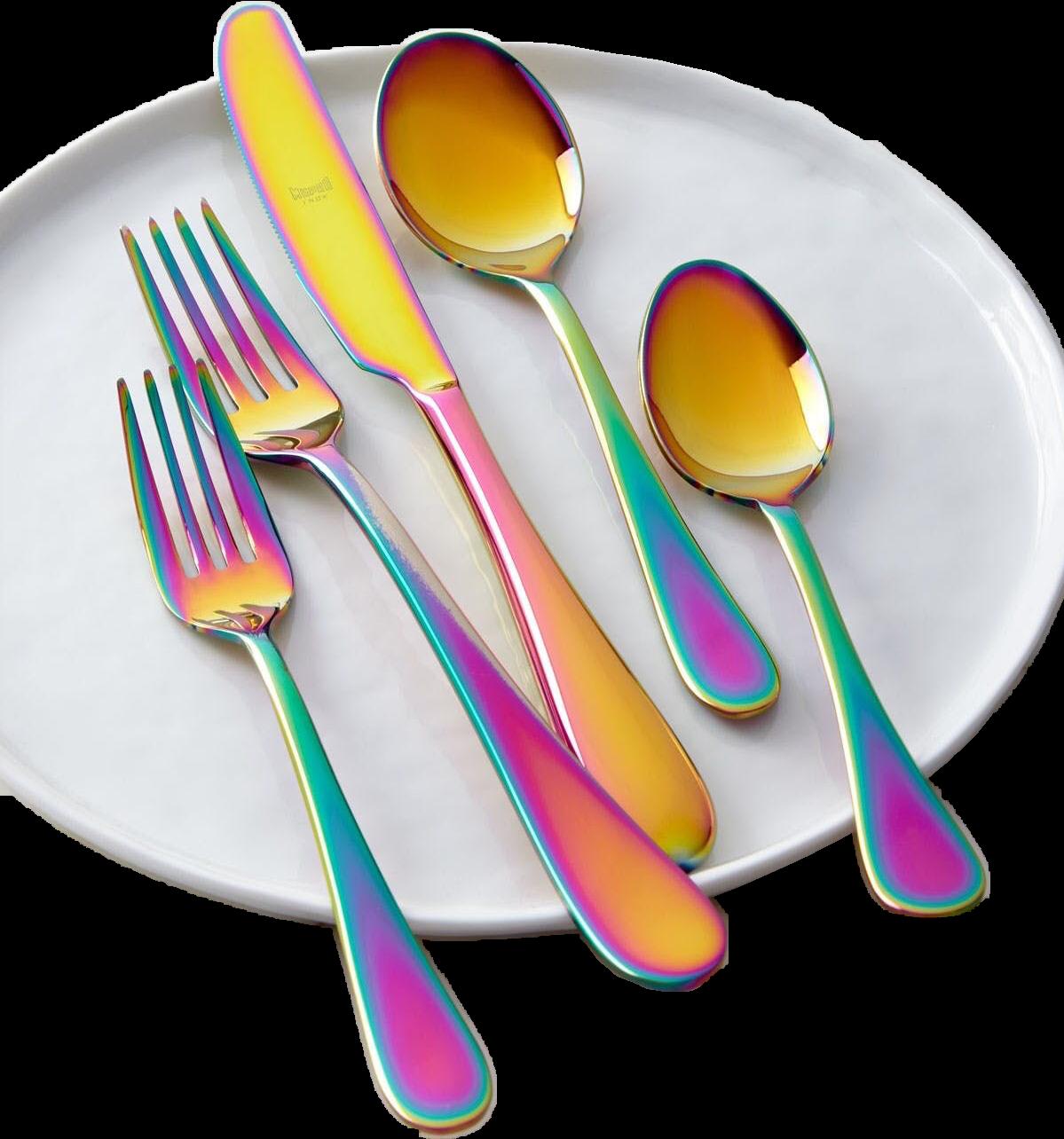 Spoon knife fork unicorn. Dinner clipart plate silverware