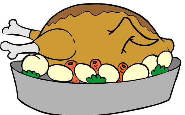 Feast clipart roast dinner. Free turkey pictures download
