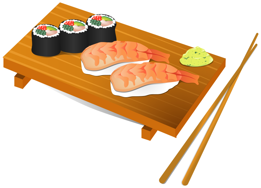 Japanese clipart sushi chef. Group clip art free