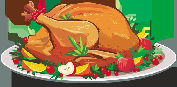 Thanksgiving free . Dinner clipart turkey