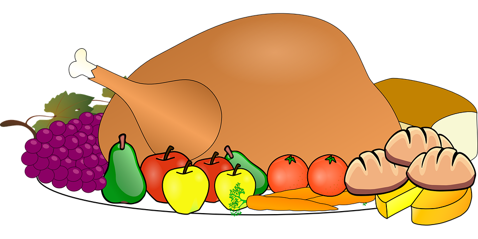 Feast clipart home cooked meal. Open thanksgiving day