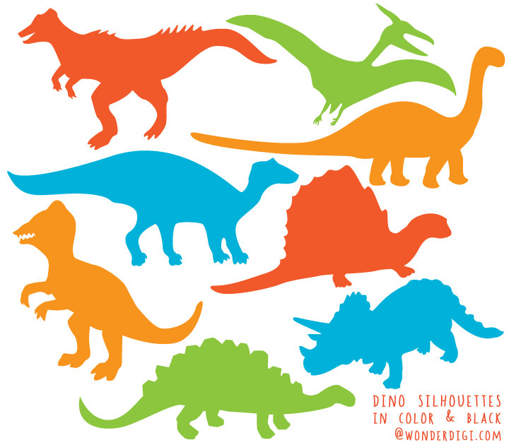 Dinosaurs silhouette clip art. Dinosaur clipart
