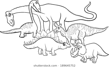 Station . Dinosaur clipart black and white