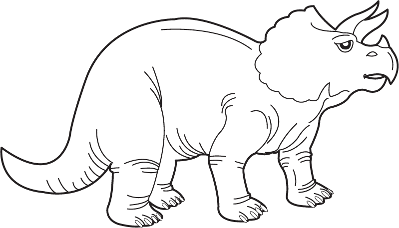 Dinosaur clipart black and white. Image of cute