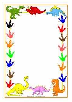 Themed a page sb. Dinosaur clipart borders