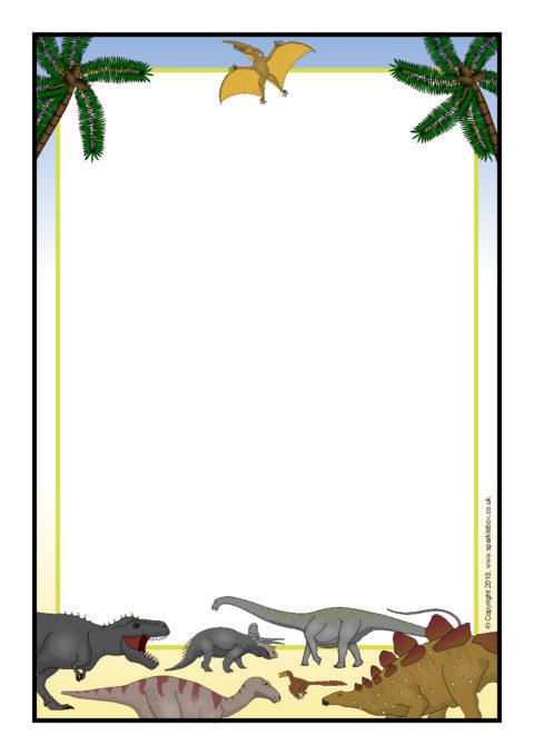 A page sb sparklebox. Dinosaur clipart borders
