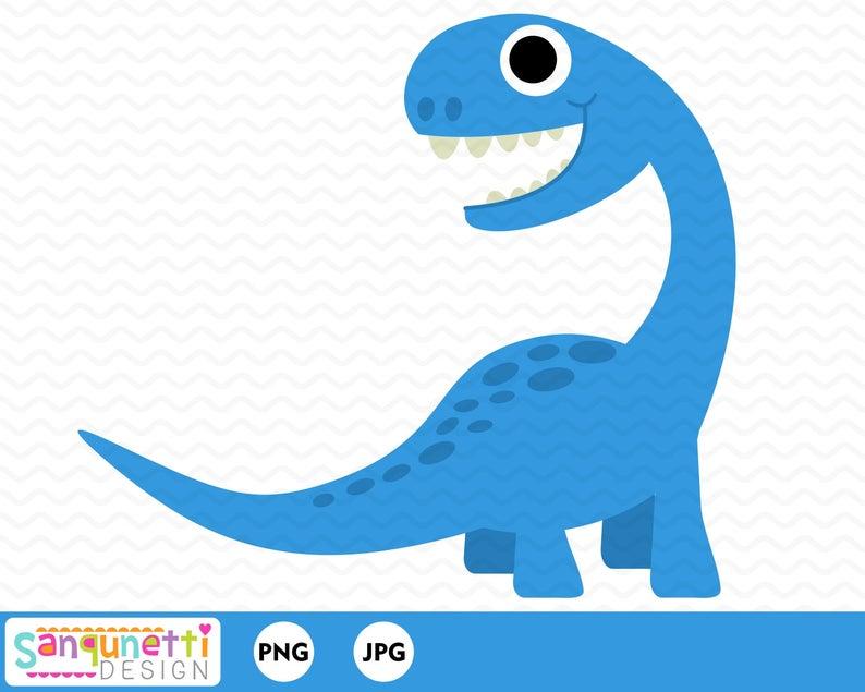 Dino digital art for. Dinosaur clipart brontosaurus