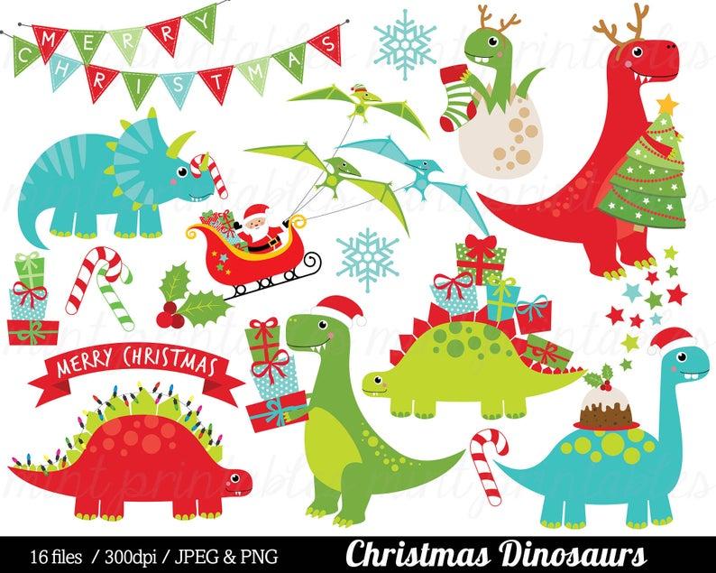 Clip art dinosaurs santa. Dinosaur clipart christmas
