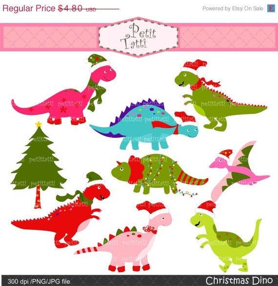 Dinosaur clipart christmas. On sale clip art