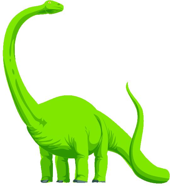 Green colored dinosaur clip. Neck clipart animal