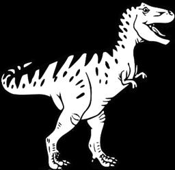 Dinosaur clipart coloured. Horror svg picture