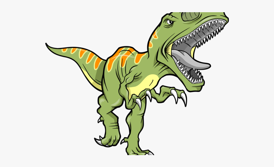 Extinct green dinosaur t. Trex clipart animated