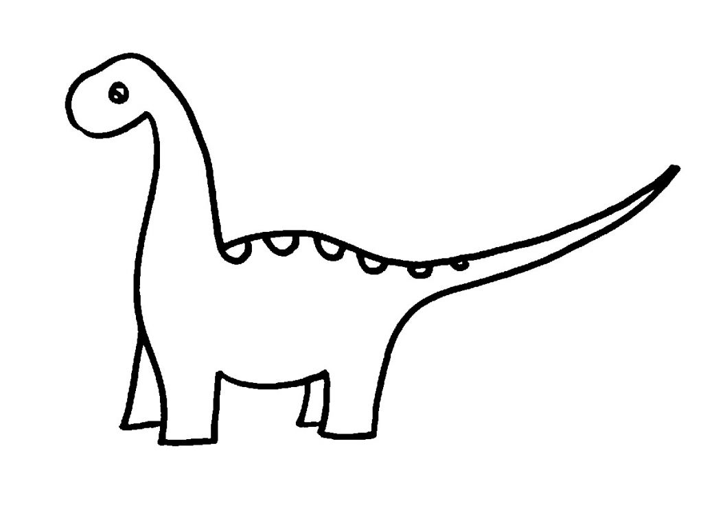 Dinosaur clipart easy. Drawing images free download