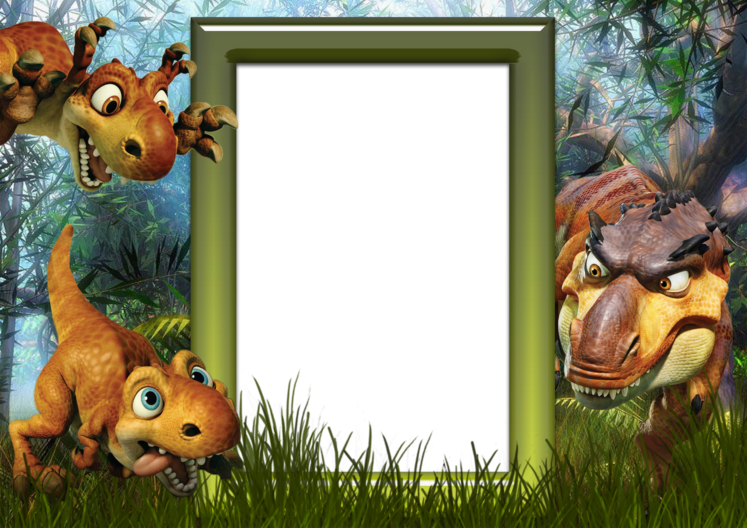 Kids png photo with. Dinosaur clipart frame