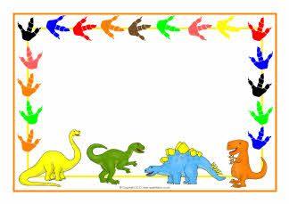 Dinosaur clipart frame. Themed a page borders