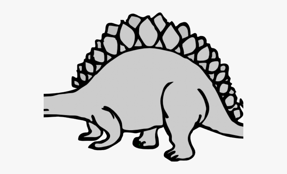 Stegosaurus coloring pages for. Dinosaur clipart gray