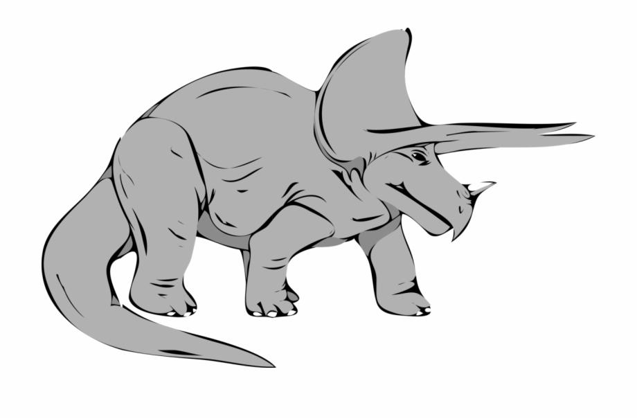 Dinosaur clipart gray. Triceratops tyrannosaurus late cretaceous