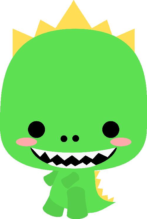 Green clipart t rex. Chibi drawing kawaii other