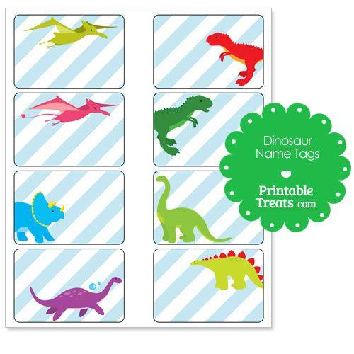 Dinosaur clipart name. Printable tags birthdays in