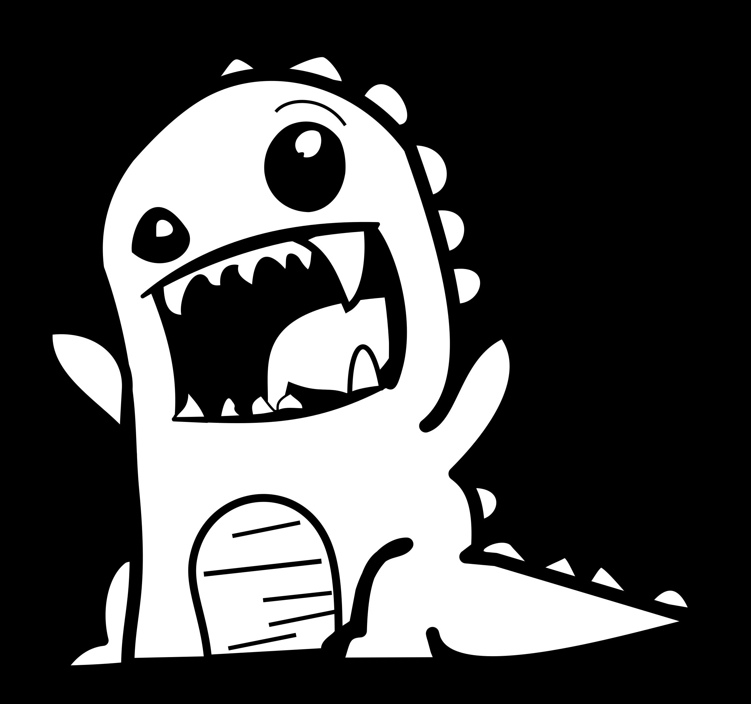 Dinosaur clipart outline. Rawr big image png