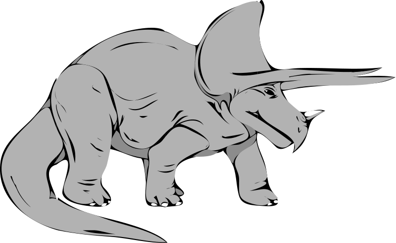 Dinosaur clipart party. Triceratops pencil and in