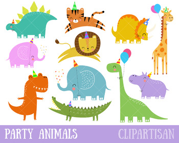 Dinosaurs clip art animals. Dinosaur clipart party