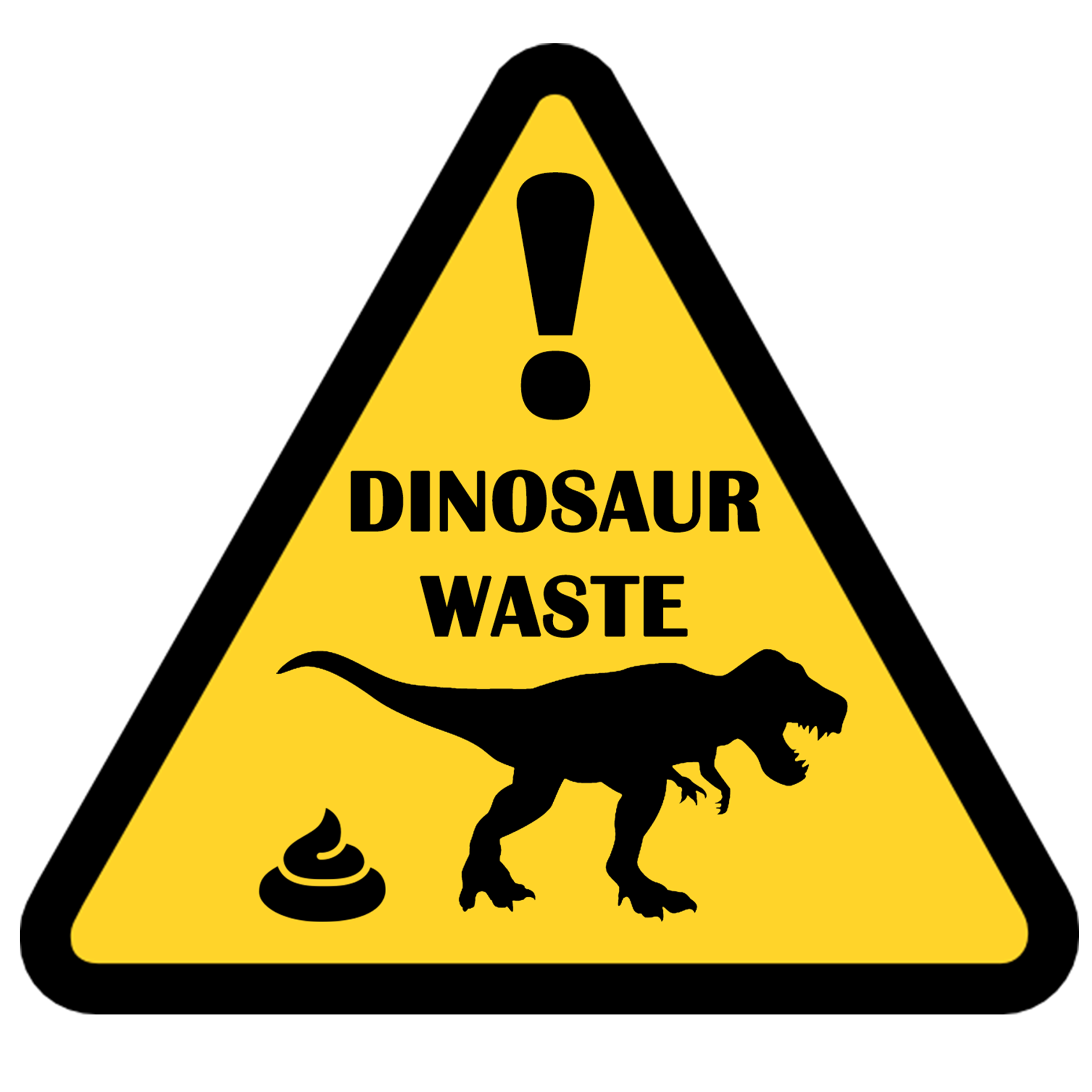 Dinosaur clipart poop. Waste shit funny sign