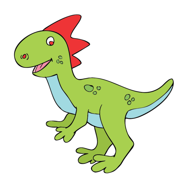Velociraptor cute free collection. Dinosaur clipart purple