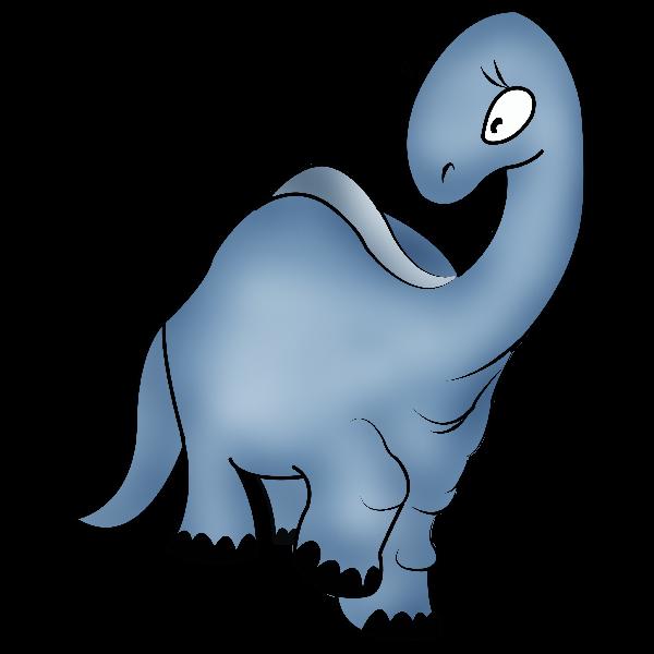 Dinosaur clipart scene. Cute cartoon animal clip