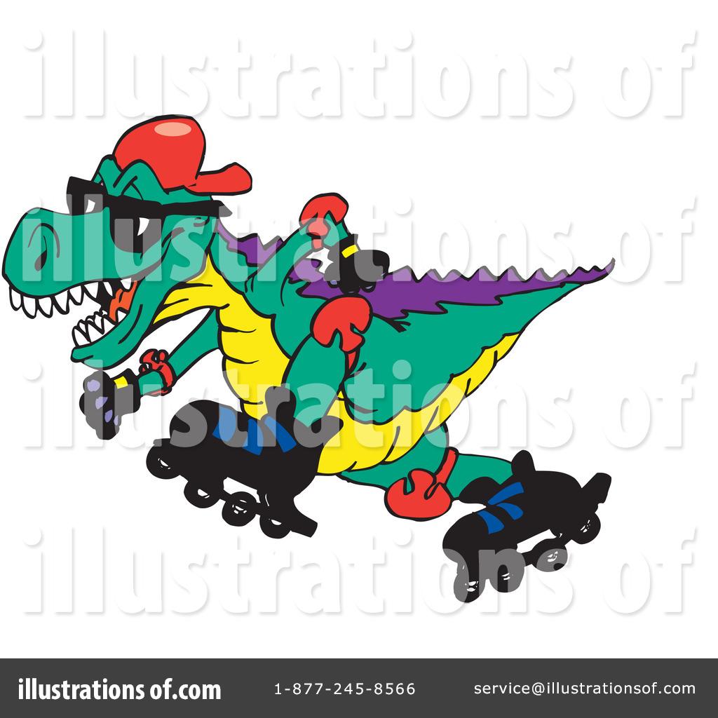 Illustration by dennis holmes. Dinosaur clipart sport