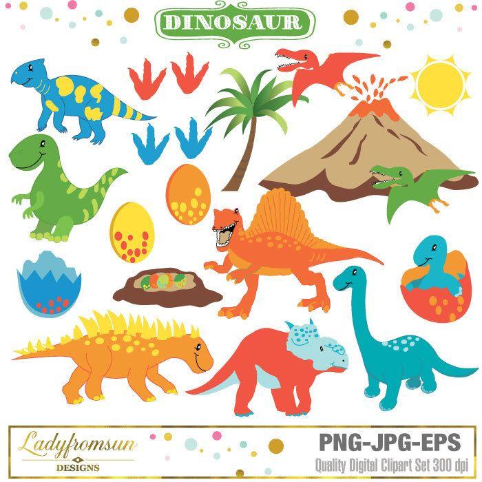 Prehistoric vector graphics baby. Dinosaur clipart tree