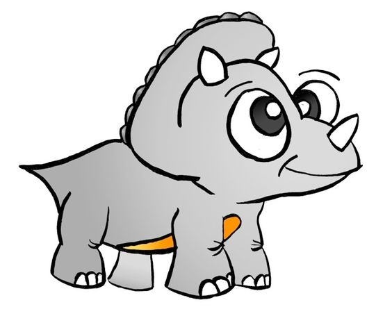 Triceratops cute royalty free. Dinosaur clipart triceratop