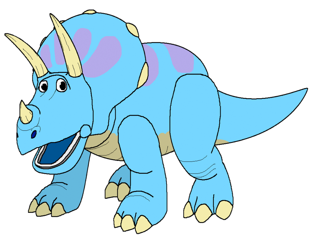 Trixie the triceratops by. Dinosaur clipart triceratop