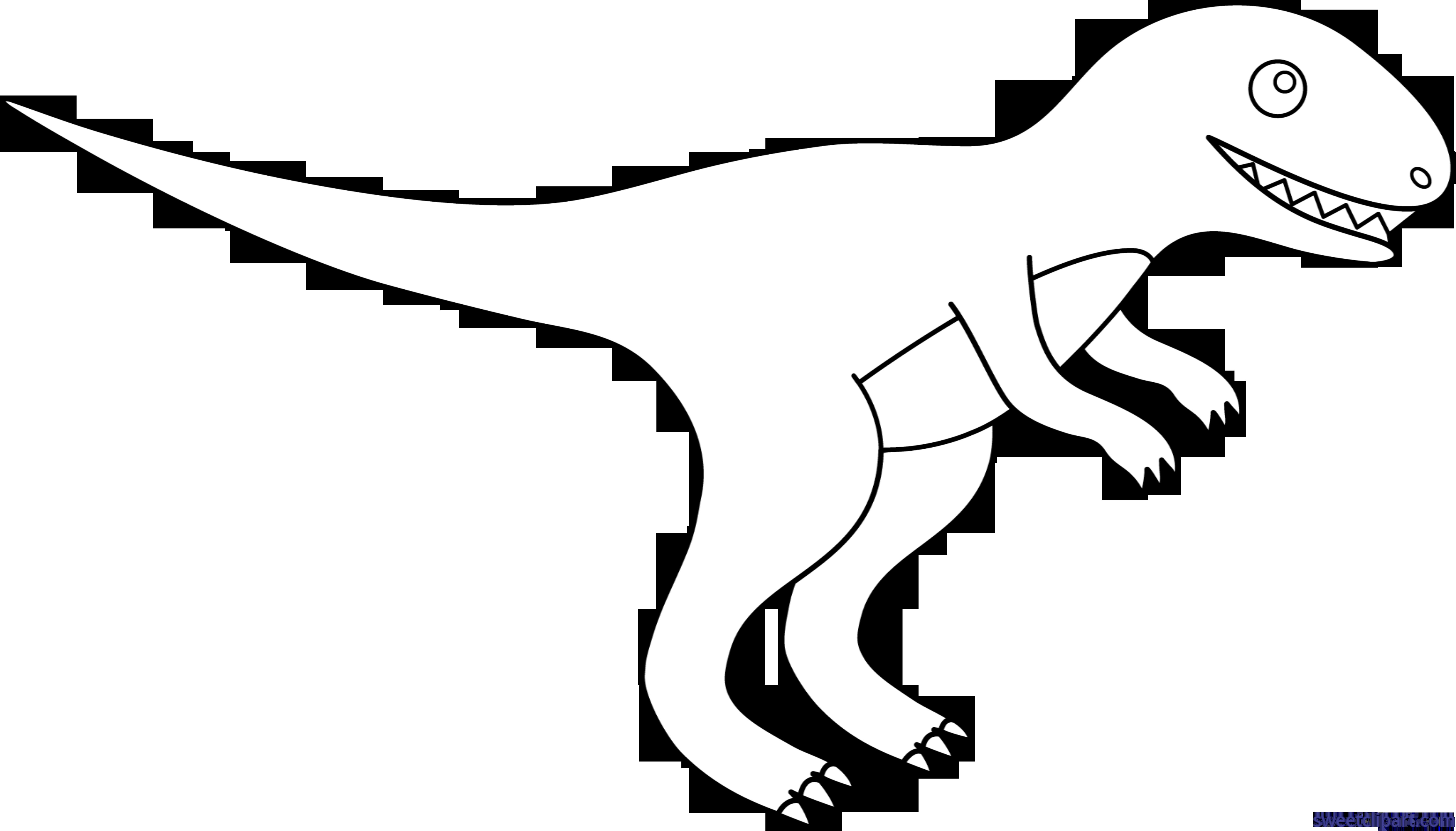 Dinosaur lineart clip art. Trex clipart t rex