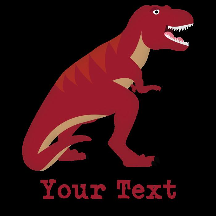 Red t with custom. Dinosaur clipart tyrannosaurus rex