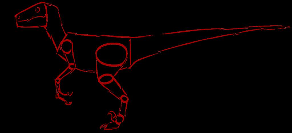 Dinosaur clipart velociraptor. Raptor drawing at getdrawings
