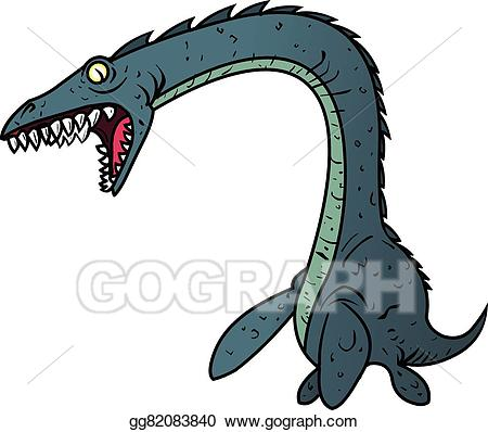 Vector stock plesiosaur . Dinosaur clipart water