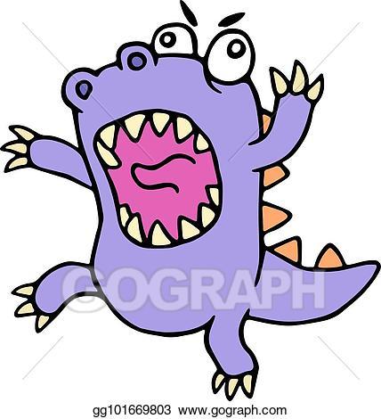 Dinosaur clipart water. Vector art crazy purple