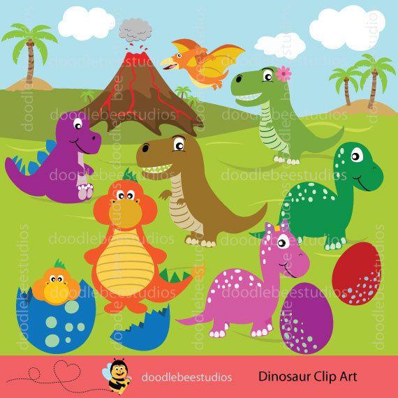 Dinosaurs clipart dinosaur land. Clip art by