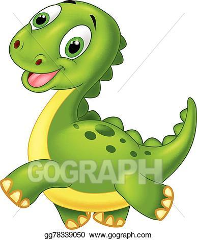 Dinosaurs clipart happy. Vector art cartoon dinosaur