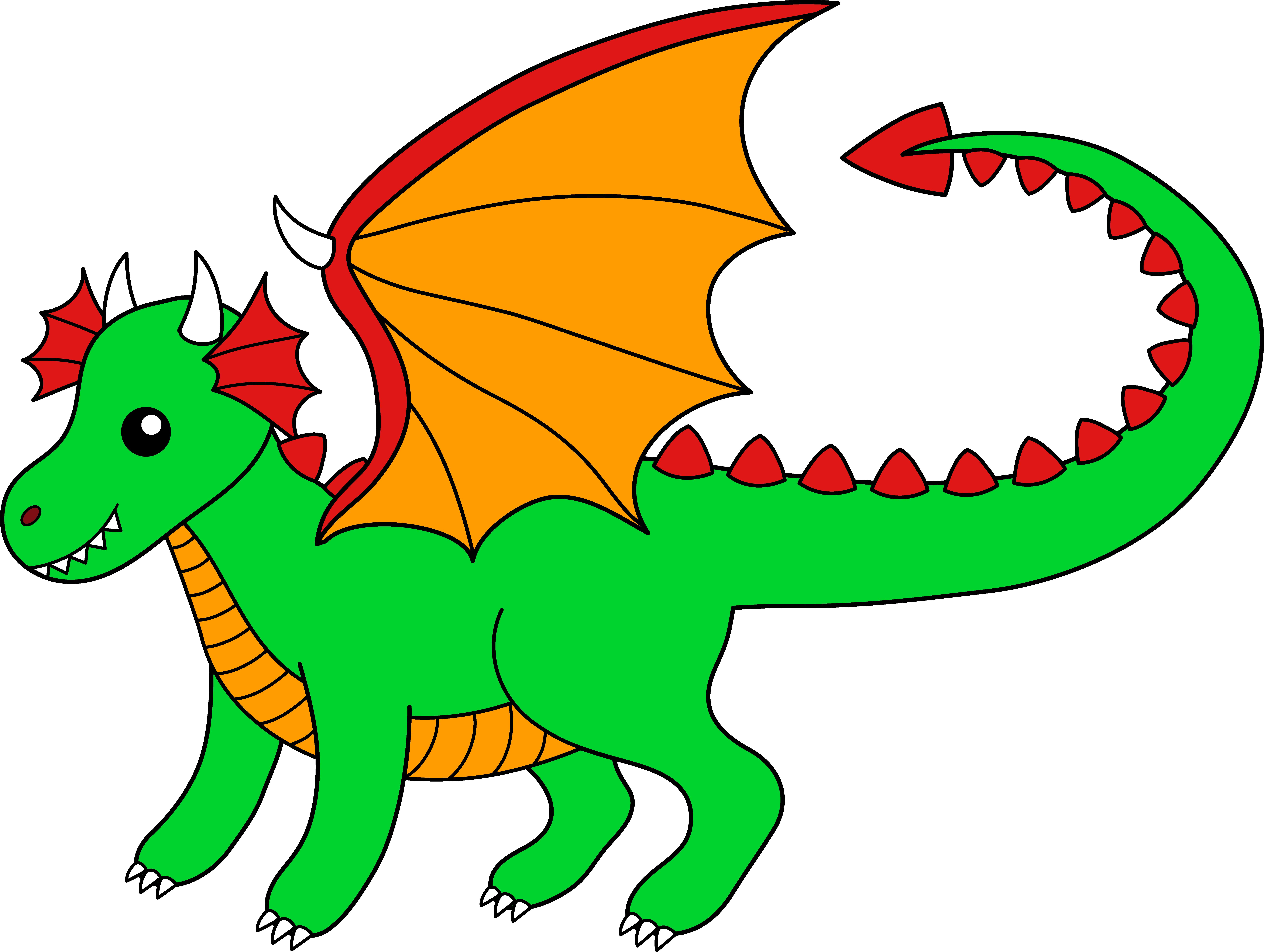 Dragon clipart happy dragon. Little green free clip