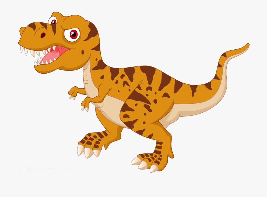 Dinosaurs clipart scary dinosaur. Tyrannosaurus cartoon illustration cute